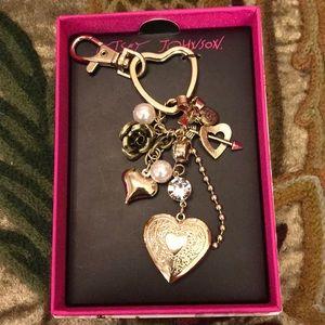 Betsey Johnson Keychain/Handbag Charm